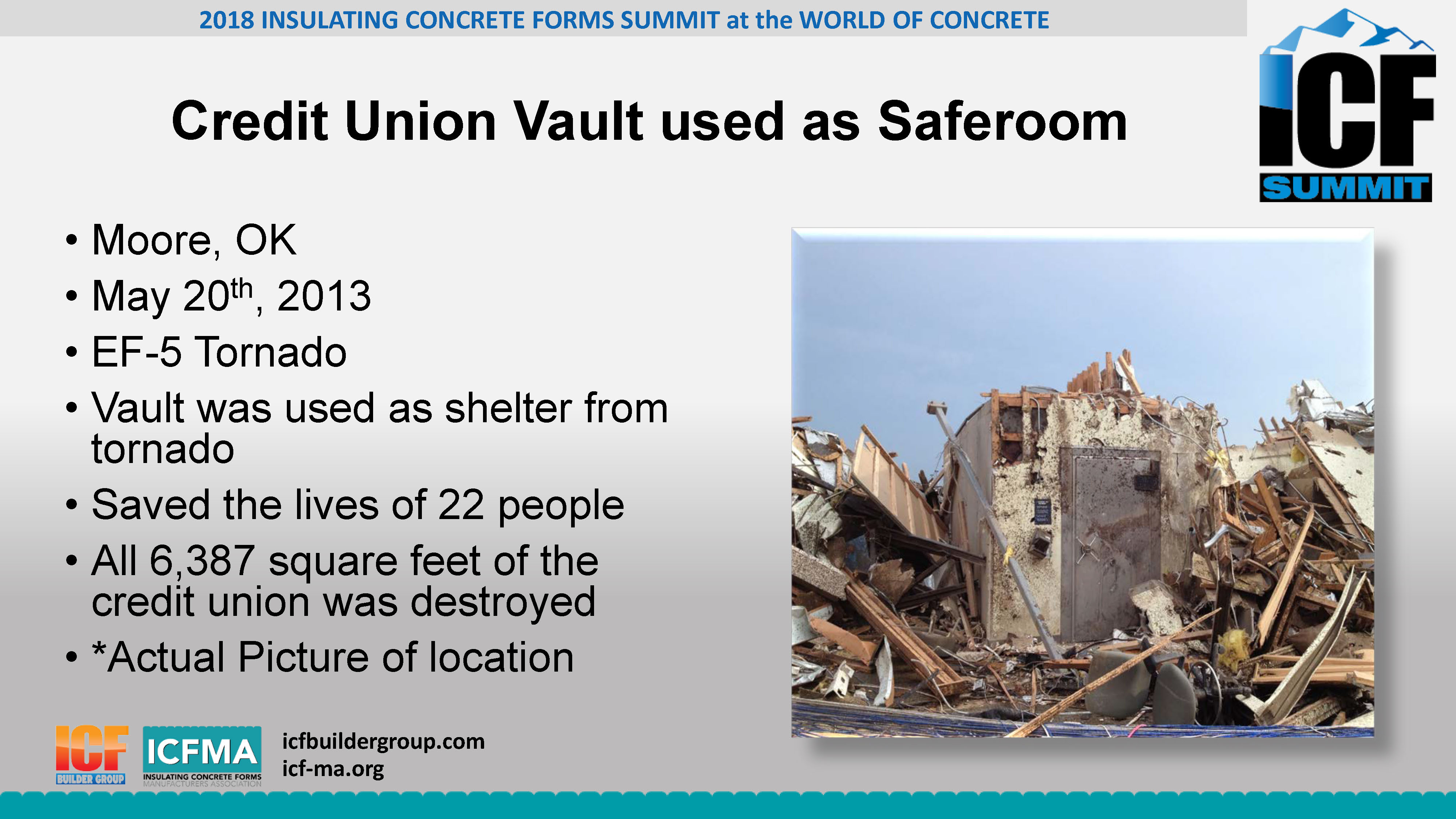 Saferooms Secure Rooms And Community Shelters - Insulating Concrete